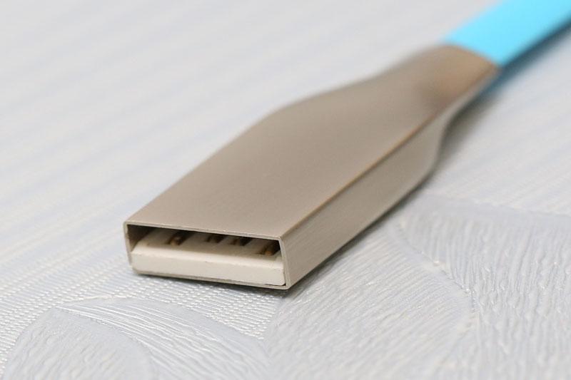 Dây cáp Lightning 0.2 m eSaver Gate-0759P - Đầu cáp USB