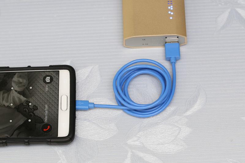 Dây cáp Micro USB 1 m eSaver DS118-TB - Sạc pin cho thiết bị từ pin sạc dự phòng