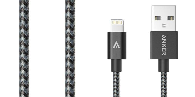 Cáp Lightning MFI 0.9m Nylon Anker A7136011