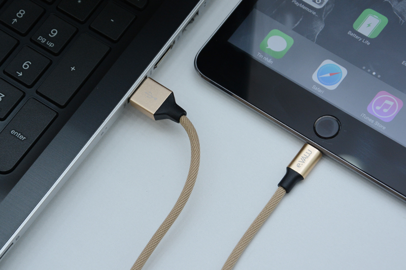 Dây cáp Lightning 1 m eValu LTL-01 - Kết nối thiết bị với laptop truyền tải dữ liệu dễ dàng