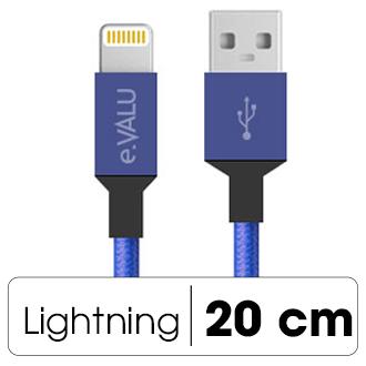Dây cáp Lightning 0.2 m eValu LTL-02