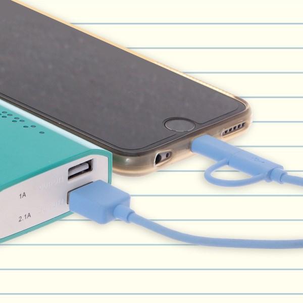 Dây cáp 2 in 1 Lightning và Micro USB 0.2 m eSaver ES-D02