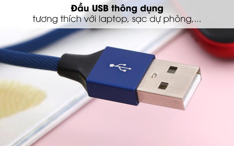 Có đầu USB thông dụng - Dây cáp Lightning 2 m e.VALU LTL-04