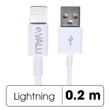 Dây cáp Lightning 0.2 m eValu AL01-200