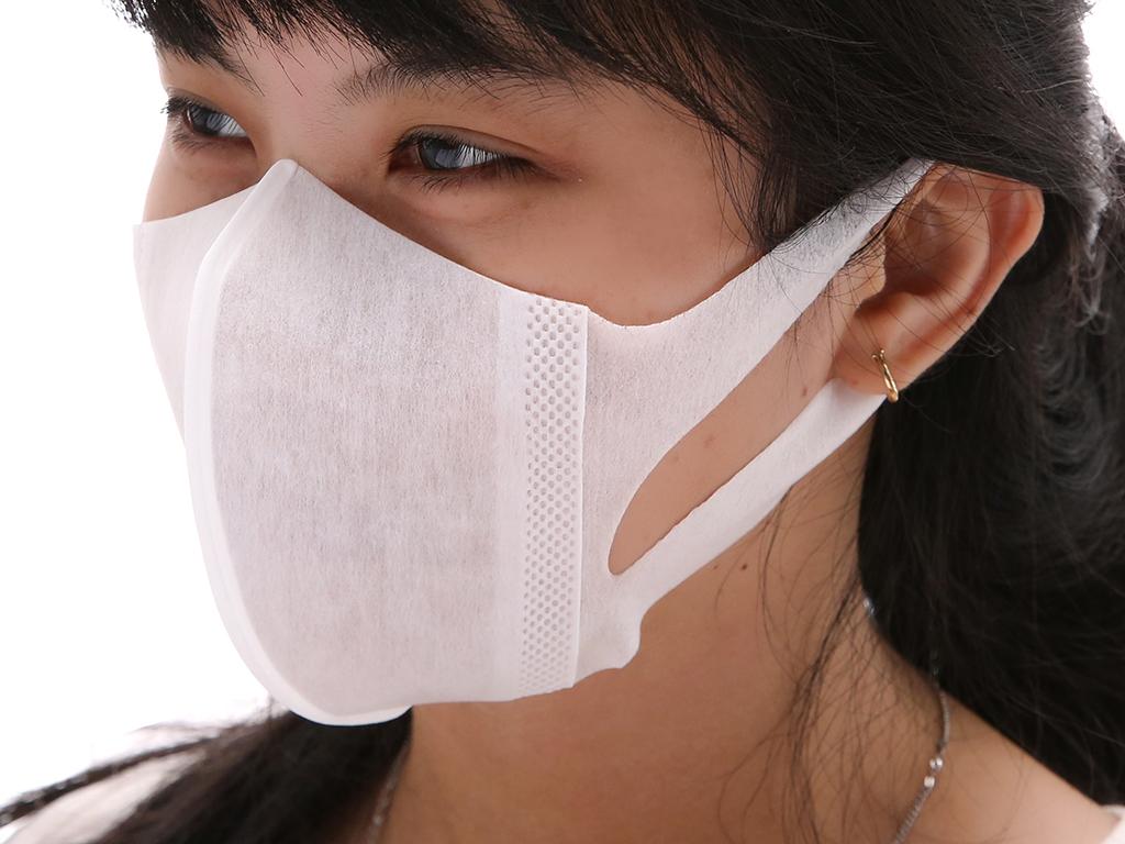 Khẩu trang ngăn khói bụi Unicharm 3D Mask 2 lớp gói 5 cái 4
