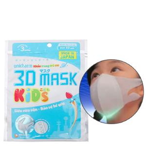 Khẩu trang cho bé Unicharm 3D gói 3 cái