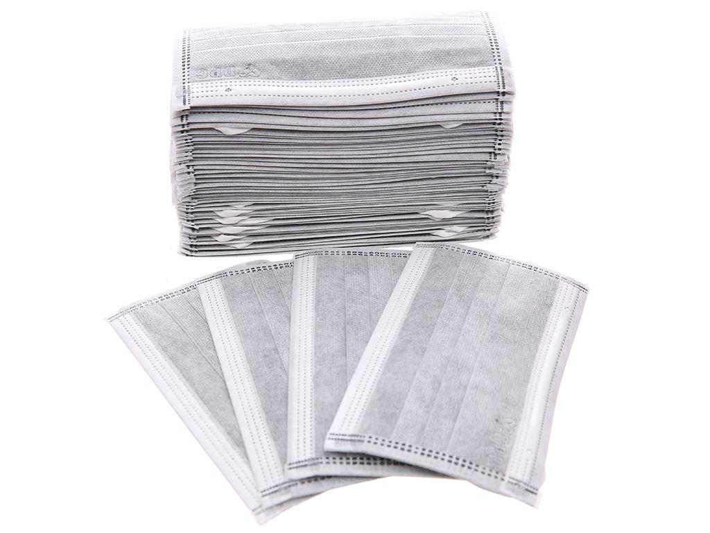 Khẩu trang than hoạt tính Dopha 4 lớp hộp 50 cái 2