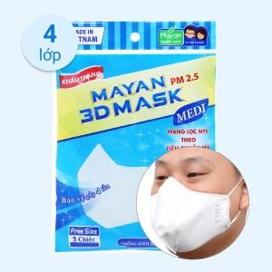 Khẩu trang Mayan 3D Mask PM 2.5 (giao màu ngẫu nhiên)