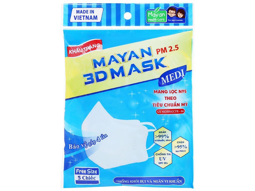 Khẩu trang Mayan 3D Mask PM 2.5 (giao màu ngẫu nhiên) 1