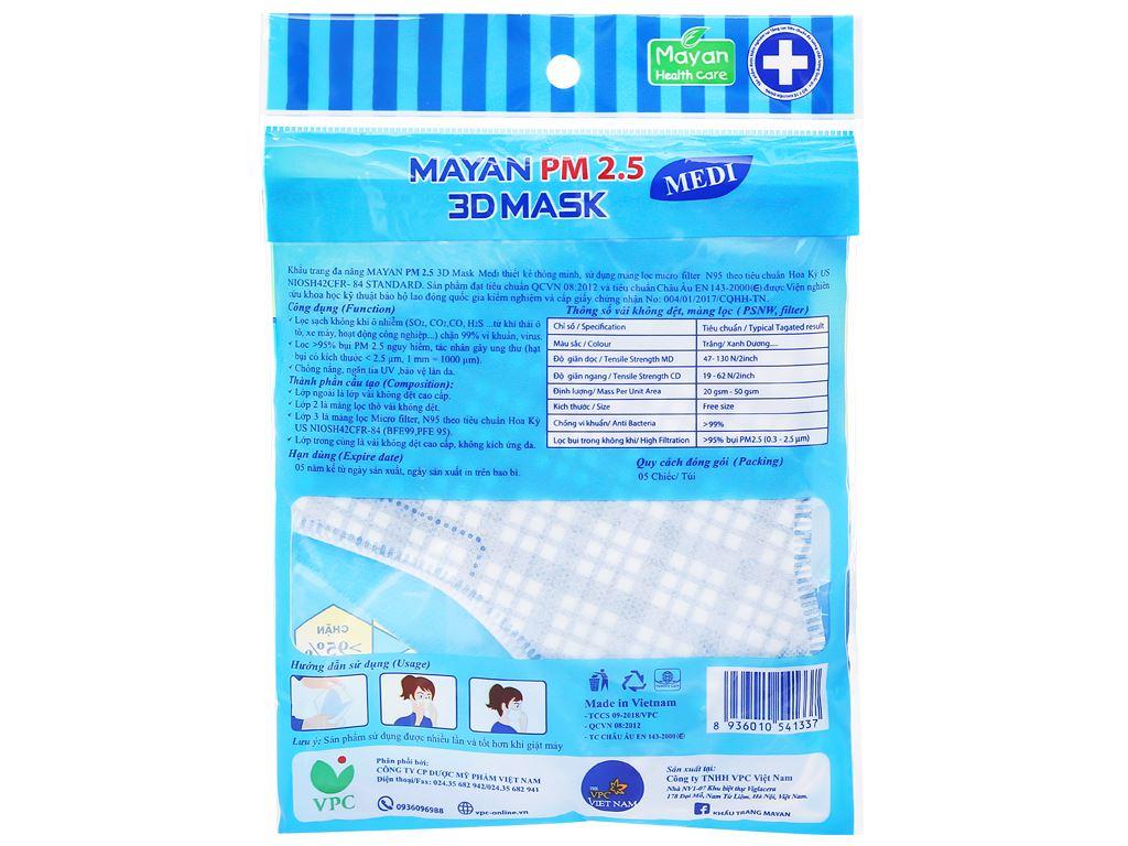 Khẩu trang Mayan 3D Mask PM 2.5 (giao màu ngẫu nhiên) 2