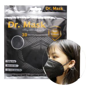 Khẩu trang than hoạt tính Dr.Mask 3D 4 lớp gói 3 cái