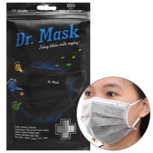 Khẩu trang than hoạt tính Dr.Mask 4 lớp gói 10 cái