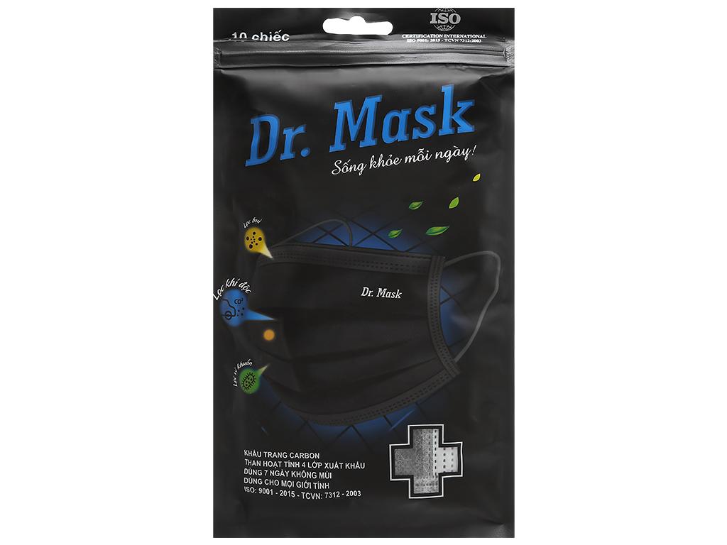 Khẩu trang than hoạt tính Dr.Mask 4 lớp gói 10 cái - giao màu ngẫu nhiên 1