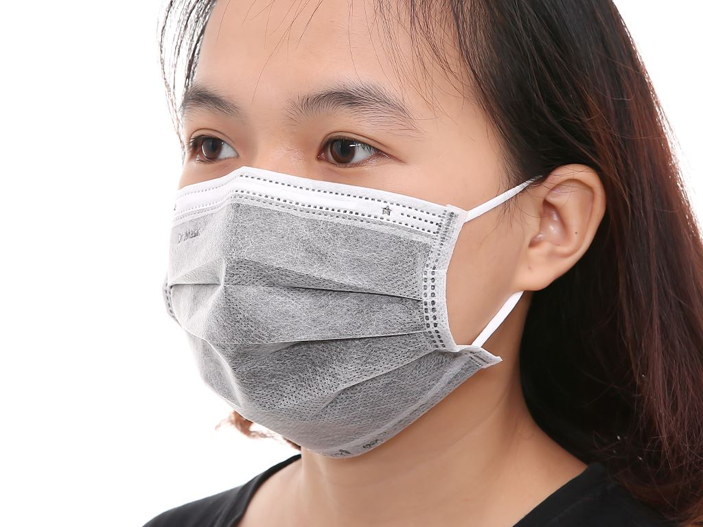 Khẩu trang than hoạt tính Dr.Mask 4 lớp gói 10 cái - giao màu ngẫu nhiên 7
