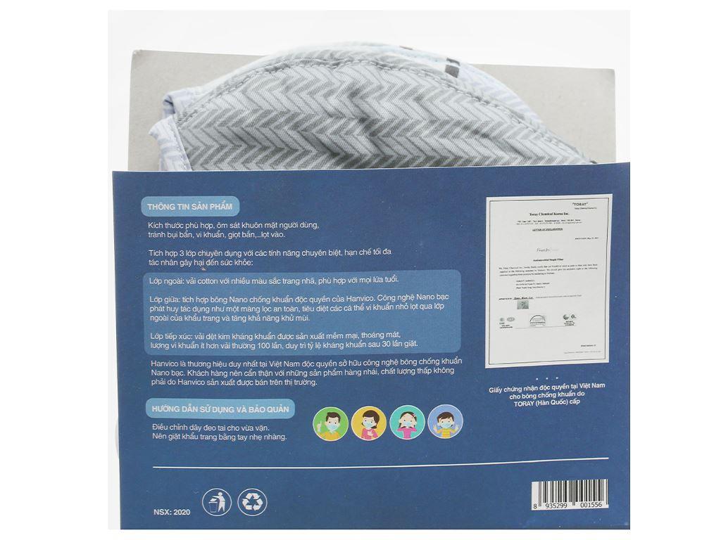 Khẩu trang vải Hanvico Nano chống khuẩn - giao mẫu ngẫu nhiên 2