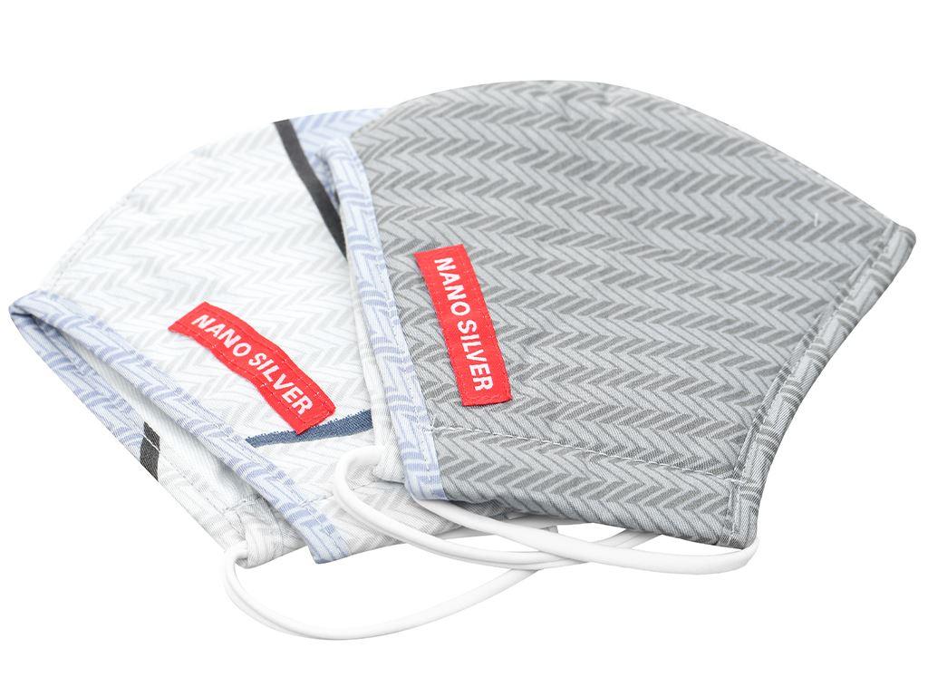 Khẩu trang vải Hanvico Nano chống khuẩn - giao mẫu ngẫu nhiên 4