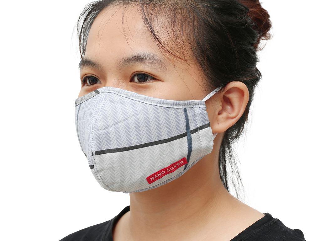 Khẩu trang vải Hanvico Nano chống khuẩn - giao mẫu ngẫu nhiên 7