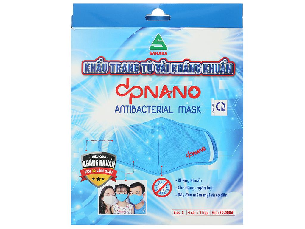 Khẩu trang vải kháng khuẩn dpNano 2 lớp hộp 4 cái size S 2