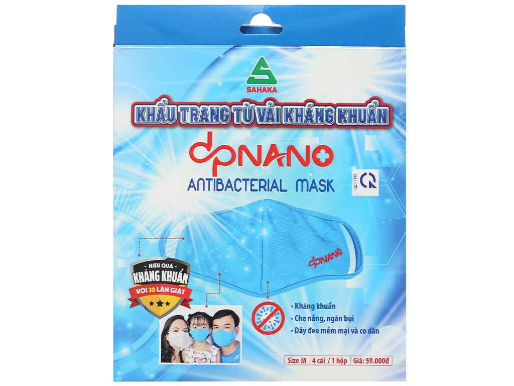 Khẩu trang vải dpNano kháng khuẩn 2 lớp hộp 4 cái (giao màu ngẫu nhiên) size M 2