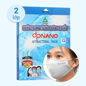 Khẩu trang vải dpNano kháng khuẩn 2 lớp hộp 4 cái (giao màu ngẫu nhiên) size M