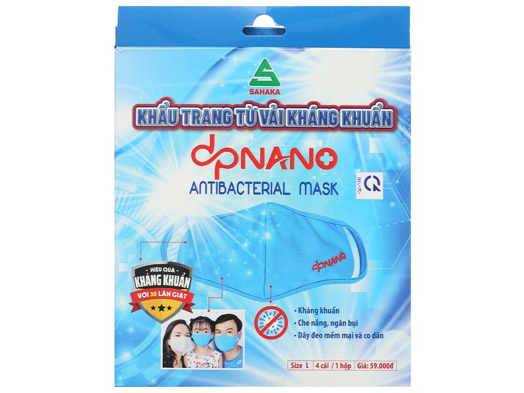 Khẩu trang vải kháng khuẩn dpNano 2 lớp hộp 4 cái (giao màu ngẫu nhiên) size L 2