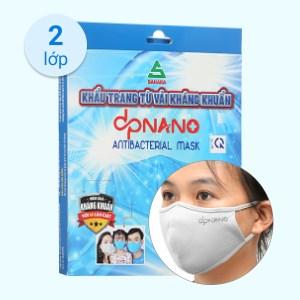 Khẩu trang vải kháng khuẩn dpNano 2 lớp hộp 4 cái (giao màu ngẫu nhiên) size L