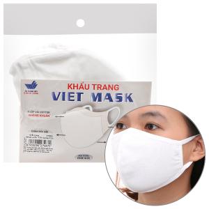 Khẩu trang vải kháng khuẩn Viet Mask 2 lớp gói 3 cái