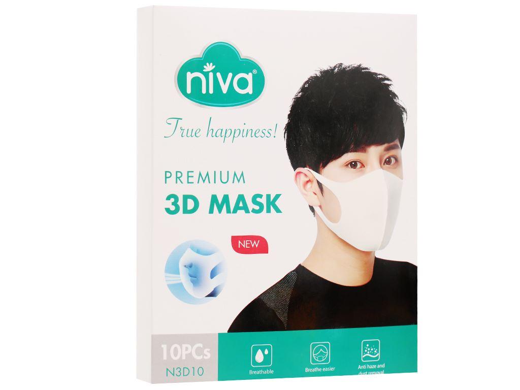 Khẩu trang Niva 3D 3 lớp hộp 10 cái 7