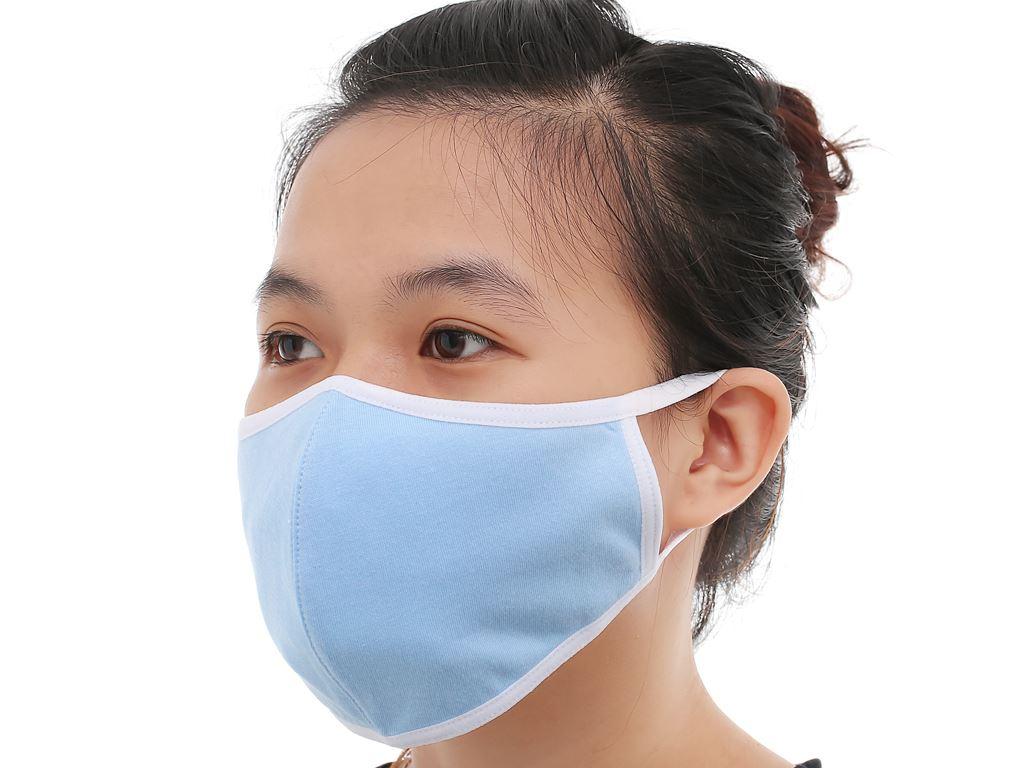 Khẩu trang vải kháng khuẩn Anh Khoa 3 lớp gói 1 cái (giao màu ngẫu nhiên) 7
