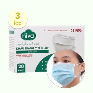 Khẩu trang y tế Niva 3 lớp hộp 20 cái - giao màu ngẫu nhiên