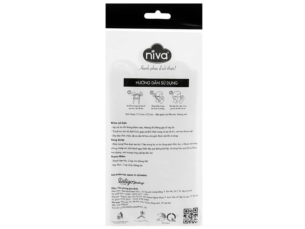 Khẩu trang kháng khuẩn Niva 3 lớp gói 5 cái (giao màu ngẫu nhiên) 2
