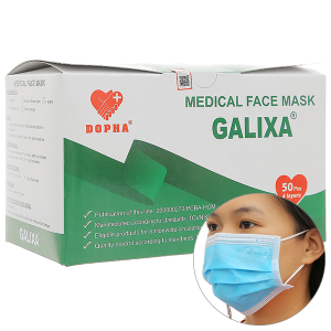 Khẩu trang y tế Dopha Galixa 4 lớp hộp 50 cái
