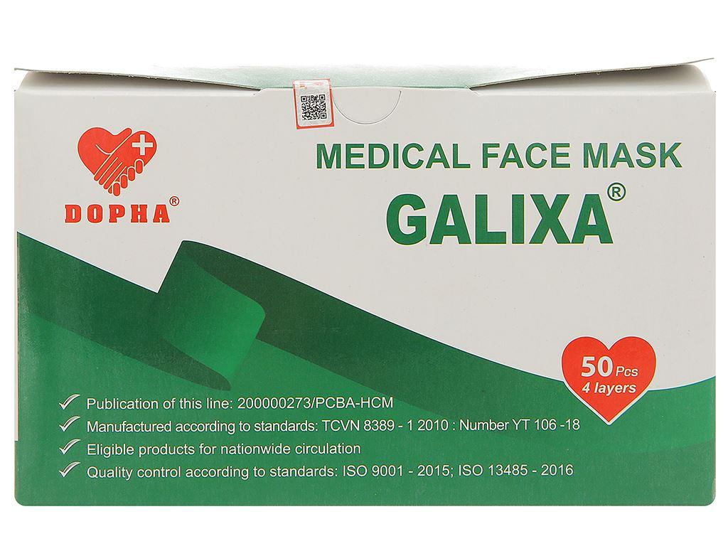 Khẩu trang y tế Dopha Galixa 4 lớp hộp 50 cái 1