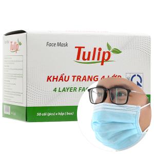 Khẩu trang Tulip 4 lớp hộp 50 cái