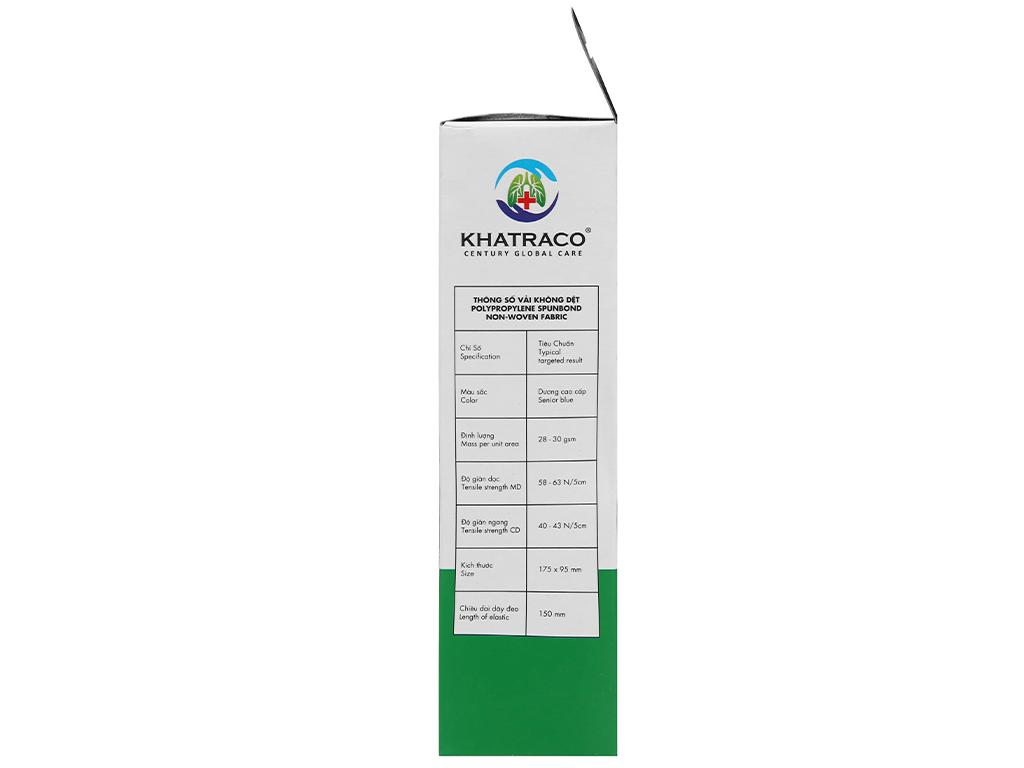 Khẩu trang y tế KHATRACO 4 lớp hộp 20 cái - giao màu ngẫu nhiên 3