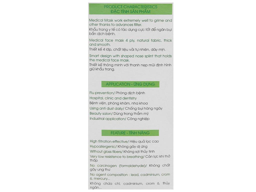 Khẩu trang y tế KHATRACO 4 lớp hộp 20 cái - giao màu ngẫu nhiên 6