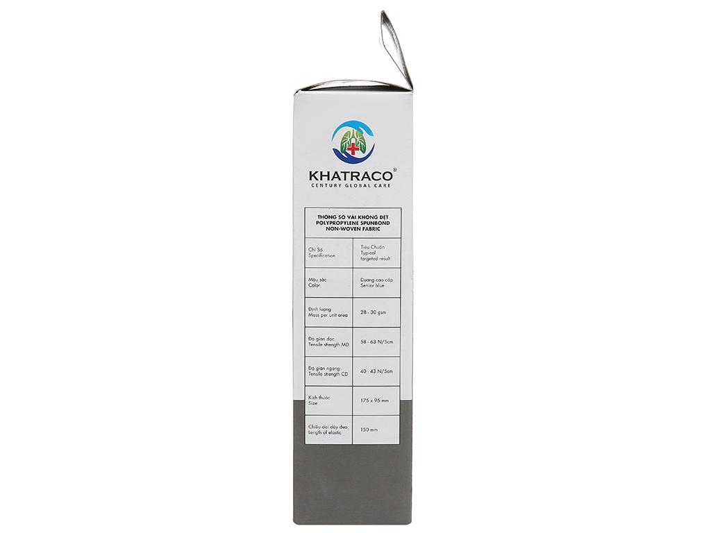 Khẩu trang y tế than hoạt tính KHATRACO 4 lớp hộp 20 cái 3