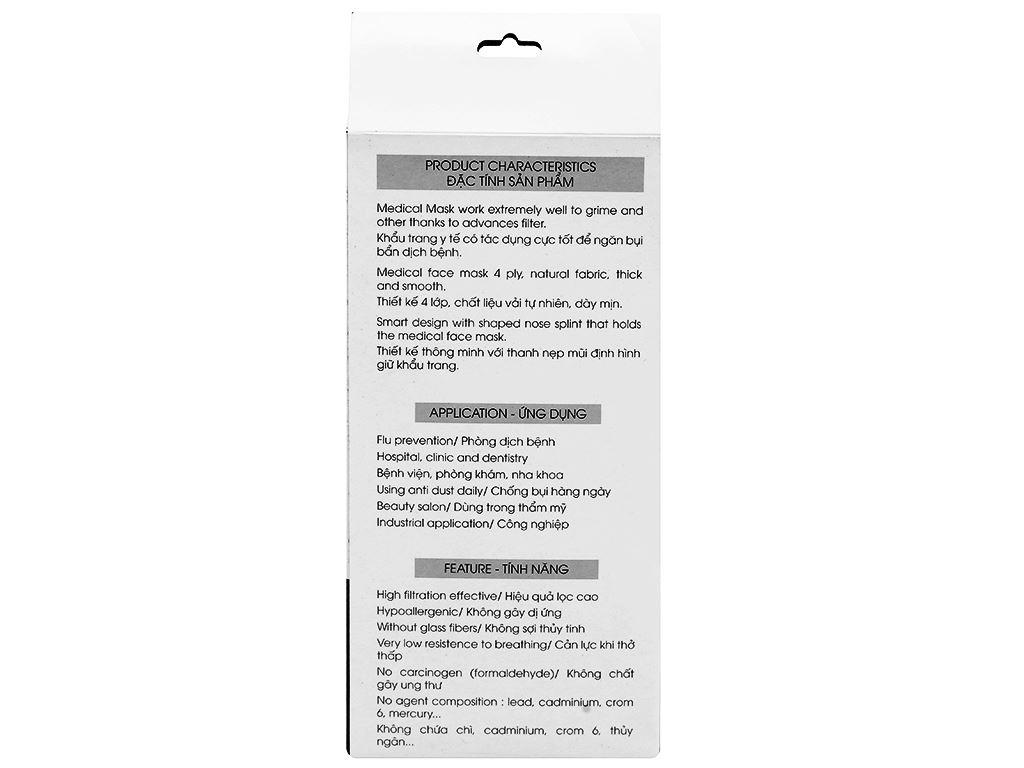 Khẩu trang y tế than hoạt tính KHATRACO 4 lớp hộp 20 cái 2