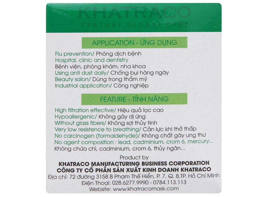 Khẩu trang y tế KHATRACO 4 lớp hộp 50 cái - giao màu ngẫu nhiên 2