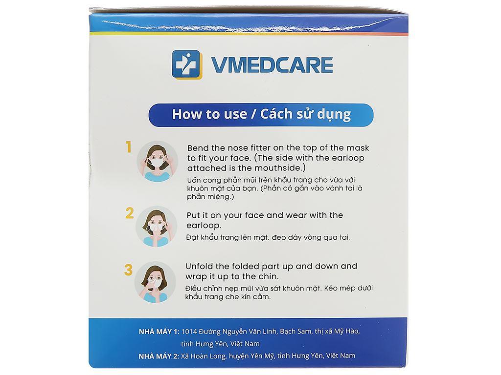 Khẩu trang y tế VMEDCARE 3 lớp hộp 50 cái 4