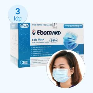 Khẩu trang Ecom MED Safe Mask 3 lớp hộp 50 cái