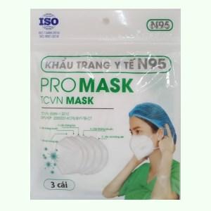 Khẩu trang y tế Promask N95 5 lớp gói 3 cái