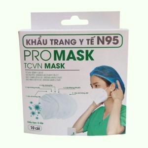 Khẩu trang y tế Promask N95 5 lớp hộp 10 cái