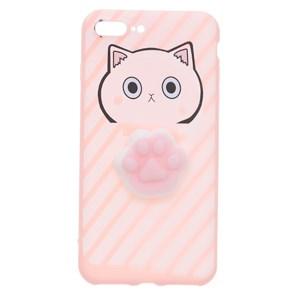 Ốp lưng iPhone 7 Plus Nhựa dẻo Let Off JM JM170705 Mèo Hồng