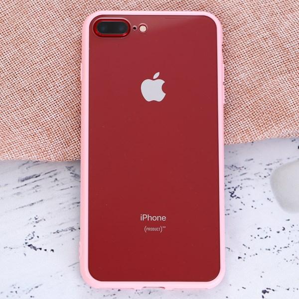 Ốp lưng iPhone 7 Plus Nhựa cứng viền dẻo New Candy JM Hồng