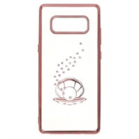 Ốp lưng Galaxy Note 8 Nhựa dẻo Electroplate Diamond OSMIA CK170805 Đính đá vỏ sò