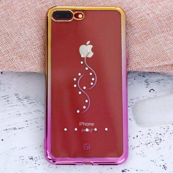Ốp lưng iPhone 7 Plus Nhựa dẻo Crystal Dior JM JM170813 Khóa Sol Nude
