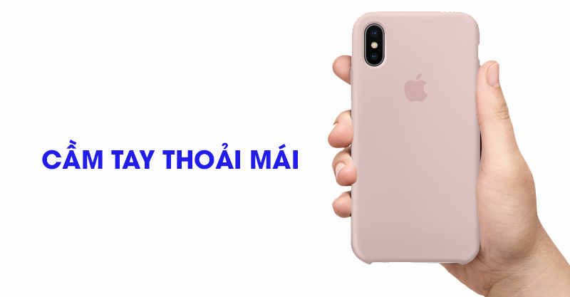 Ốp lưng iPhone X Silicone Apple MQT62 Hồng