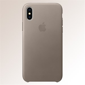 Ốp lưng iPhone X da Apple MQT92 Xám Nâu