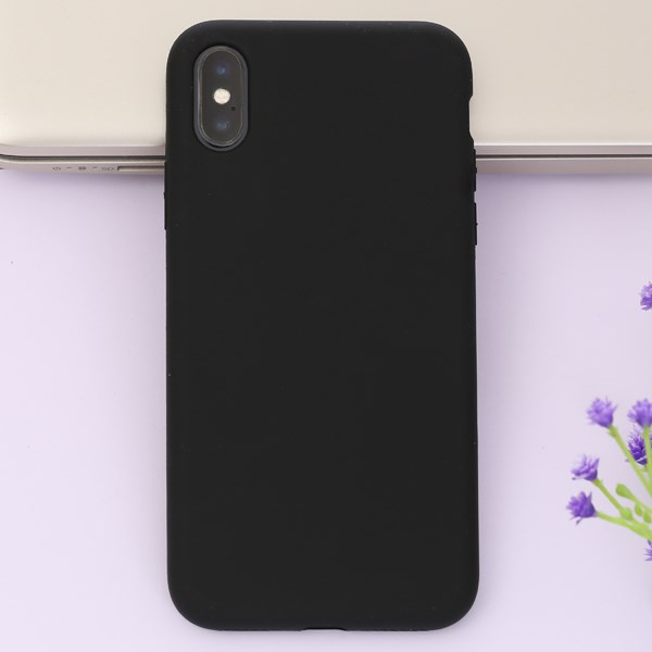 Ốp lưng iPhone X Nhựa dẻo Ultra Slim Silicone Case JM Đen
